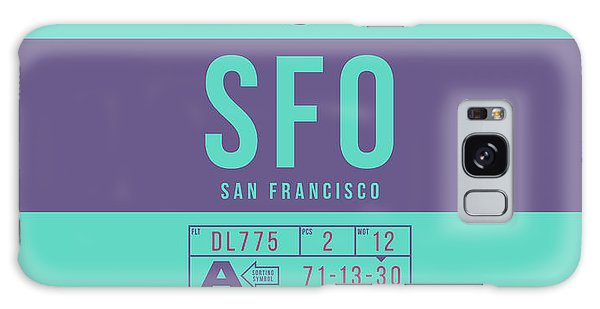 Pass Galaxy Case - Retro Airline Luggage Tag 2.0 - Sfo San Francisco International Airport United States by Ivan Krpan