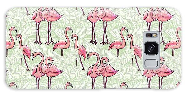 Flamingo Pattern Galaxy Case