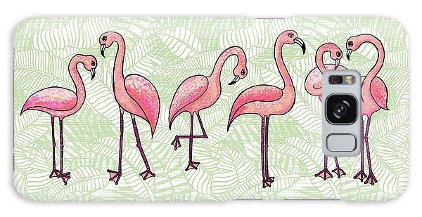 Tropical Flamingos Galaxy Case