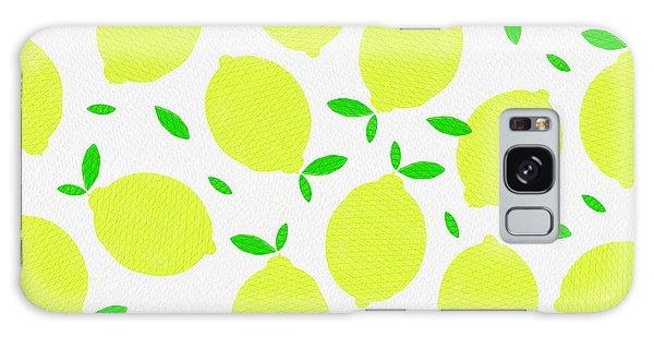 Sunny Lemon Pattern Galaxy Case