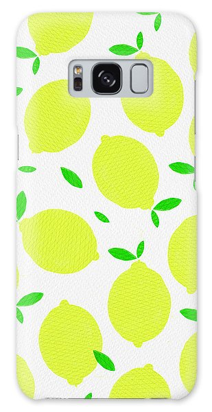 Sunny Lemon Pattern Galaxy Case