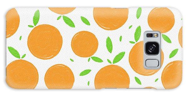 Sunny Citrus Pattern Galaxy Case