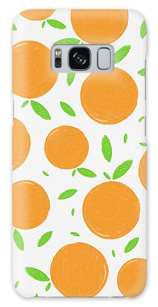 Sunny Citrus Pattern Galaxy Case