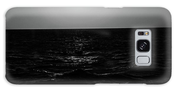 Aruba Sunset In Black And White Galaxy Case
