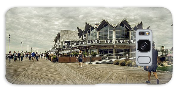 Galaxy Case featuring the photograph Asbury Park Boardwalk Looking South by Steve Stanger