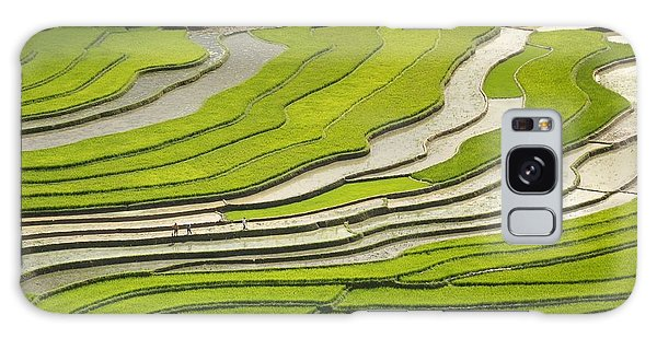 Asian Rice Field Galaxy Case