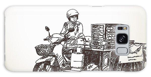 Motor City Galaxy Case - Asian Street Food On Motorbike, Hand by Art Of Line