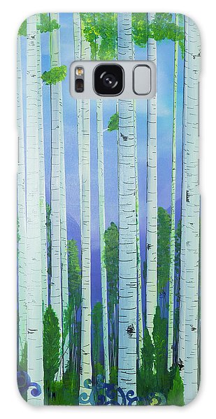 Aspens In Summer Galaxy Case