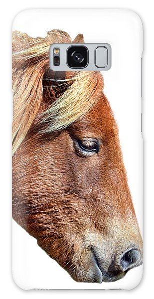 Galaxy Case featuring the photograph Assateague Pony Sarah's Sweet On White by Bill Swartwout Fine Art Photography