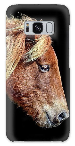 Galaxy Case featuring the photograph Assateague Pony Sarah's Sweet Tea On Black Square by Bill Swartwout Fine Art Photography