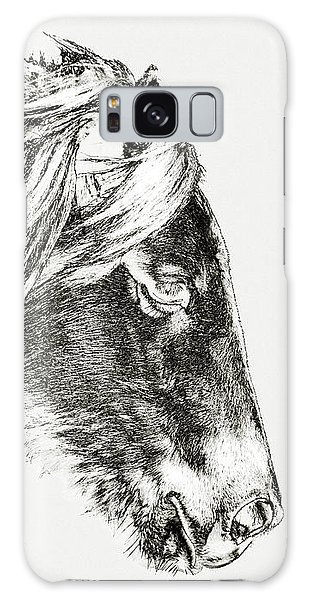 Galaxy Case featuring the photograph Assateague Pony Sarah's Sweet Tea Sketch by Bill Swartwout Fine Art Photography