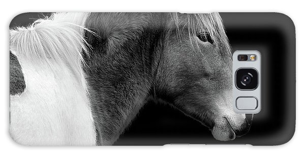 Galaxy Case featuring the photograph Assateague Pony Susi Sole Black And White Portrait by Bill Swartwout Fine Art Photography