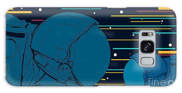 Spaceship Galaxy Case - Astronauts In Space. Vector by Svobodin Anton