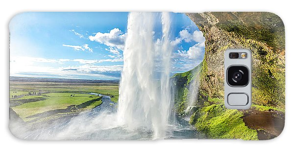 Powerful Galaxy Case - At The Back Of Seljalandsfoss In Iceland by Cheng Yuan