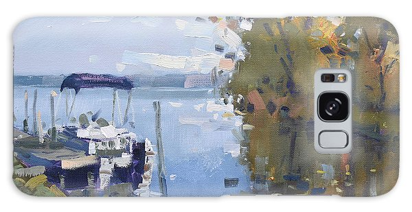 Docked Boats Galaxy Case - At The Dock by Ylli Haruni
