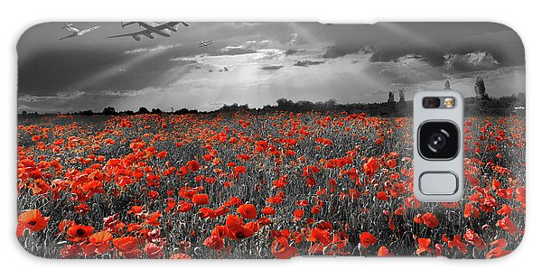 Galaxy Case featuring the photograph At The Going Down Of The Sun Selective Red Version by Gary Eason