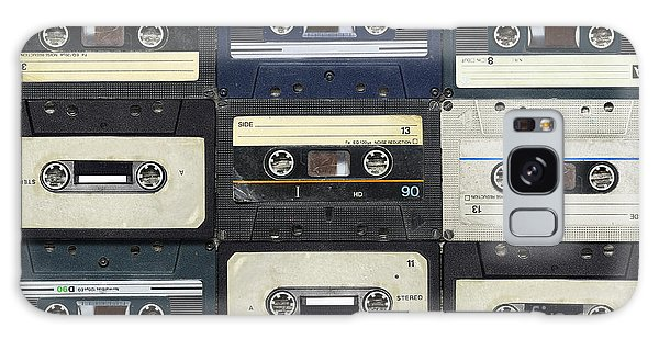 Technology Galaxy Case - Audio Cassettes. Retro Background by Krasovski Dmitri