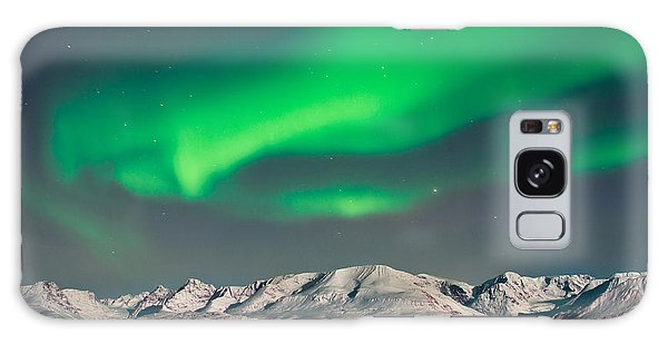 Bright Colors Galaxy Case - Aurora Above Fjords In Norway by Strahil Dimitrov