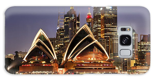 Horizontal Galaxy Case - Australia Iconic Sydney City Landmarks by Taras Vyshnya