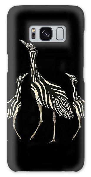 Galaxy Case - Australian Bustard Zebra 2 by Joan Stratton