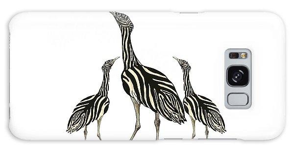 Galaxy Case - Australian Bustard Zebra 3 by Joan Stratton