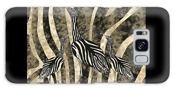 Galaxy Case - Australian Bustard Zebra 4 by Joan Stratton