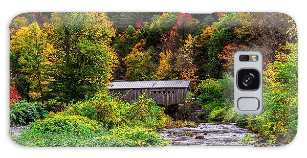 Autumn At The Comstock Covered Bridge Galaxy Case