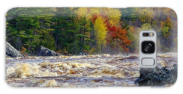 Autumn Colors And Rushing Rapids   Galaxy Case