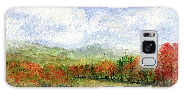 Autumn Day Watercolor Vermont Landscape Galaxy Case