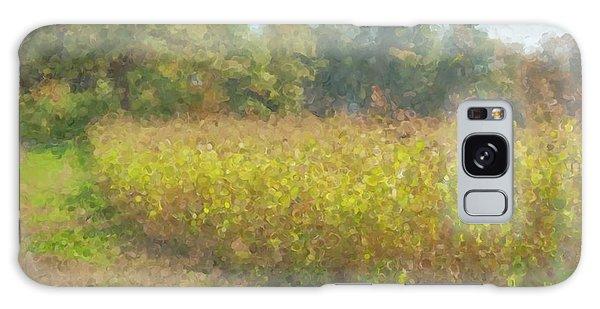 Autumn Field In Sunlight Galaxy Case