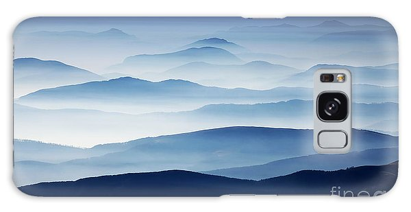 Scenery Galaxy Case - Autumn Foggy Landscape In Parang by Mikadun