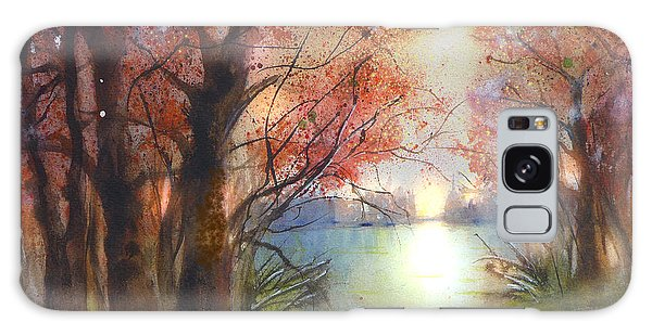 Autumn Forest Sunrise Galaxy Case
