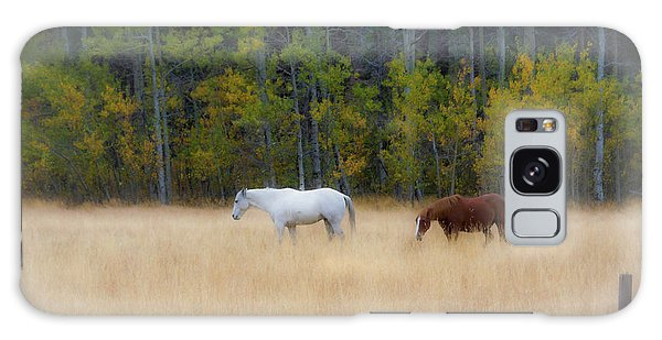 Autumn Horse Meadow Galaxy Case