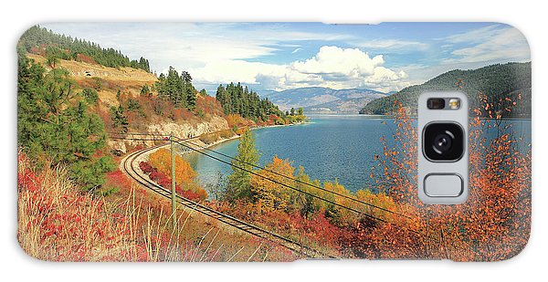 Oyama Galaxy Case - Autumn In Oyama And Kalamalka Lake by Darrel Giesbrecht
