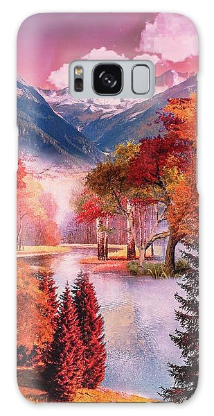 Autumn Landscape 1 Galaxy Case