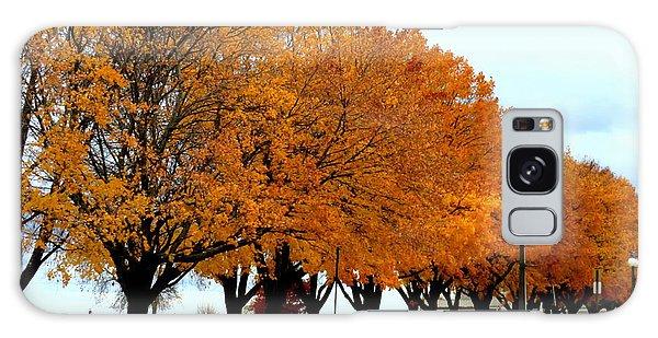 Autumn Leaves In Menominee Michigan Galaxy Case