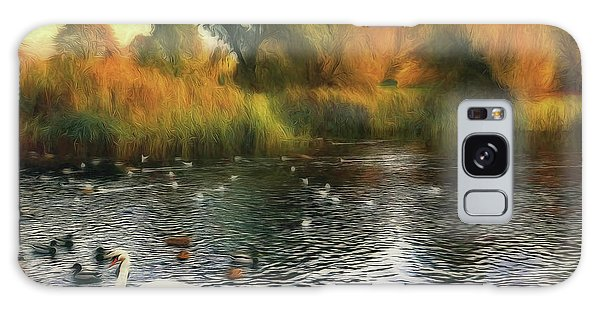 Galaxy Case featuring the photograph Autumn On The Lake by Leigh Kemp