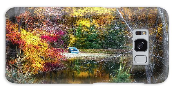 Calm Galaxy Case - Autumn Pond With Rowboat by Tom Mc Nemar