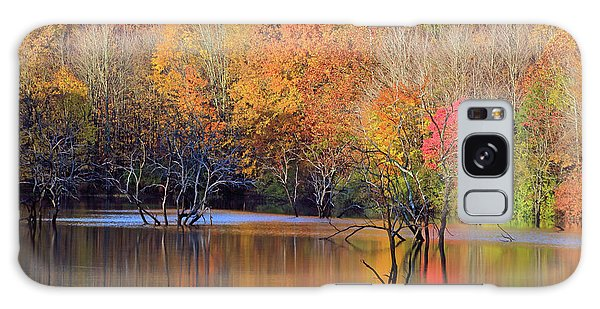 Galaxy Case featuring the photograph Autumn Reflections by Angela Murdock