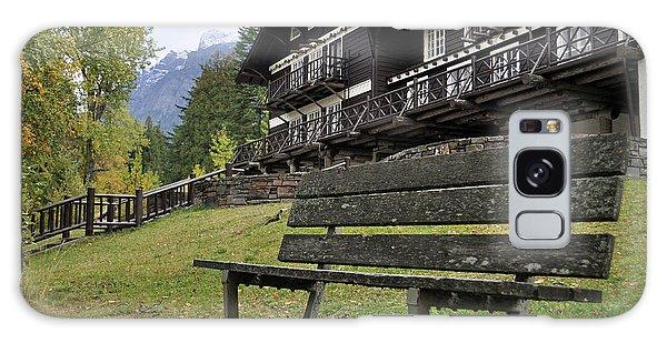 Autumn Silence At Lake Mcdonald Lodge In Glacier National Park Galaxy Case
