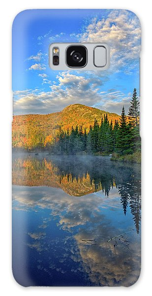 Autumn Sky, Mountain Pond Galaxy Case