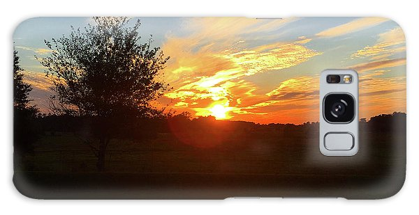 Autumn Sunset Galaxy Case