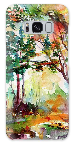 Autumn Trees Watercolors Galaxy Case
