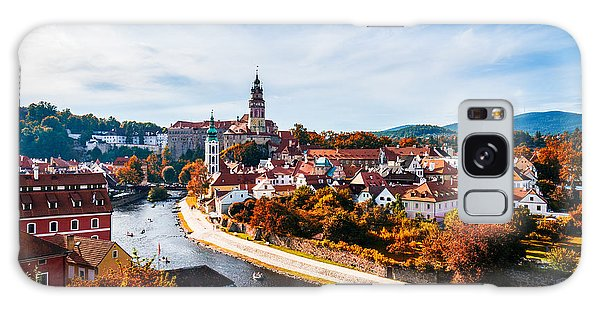 Scenery Galaxy Case - Autumn View On The Cesky Krumlov And by Daliu