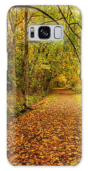Galaxy Case featuring the photograph Autumn Walk by Bob Cournoyer