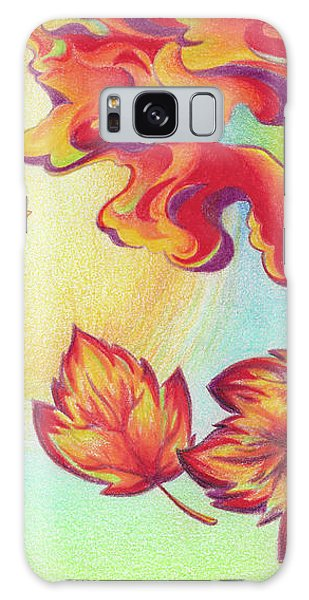 Autumn Wind And Leaves Galaxy Case