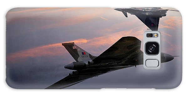 The Sky Galaxy Case - Avro Vulcan Xh558 And Eurofighter Typhoon Gina. by Smart Aviation
