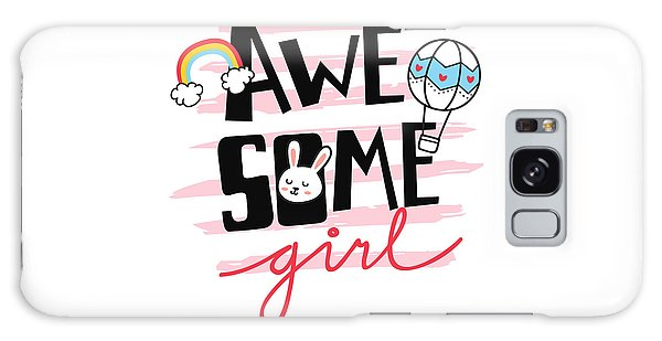 Awesome Girl - Baby Room Nursery Art Poster Print Galaxy Case