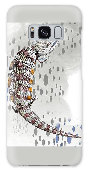 B Is For Blue Tongue Lizard Galaxy Case