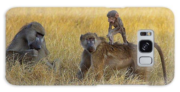 Baboons In Botswana Galaxy Case